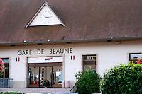 Beaun train station. Beaune, cote de Beaune, d'Or, Burgundy, France