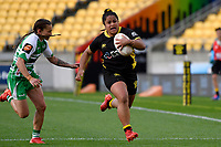 Ayesha Let-I'iga of the Wellington makes a break during the Farah Palmer Cup Rugby – Wellington v Manawatu at Sky Stadium, Wellington, New Zealand on Friday 25 September 2020. <br /> Photo by Masanori Udagawa. <br /> www.photowellington.photoshelter.com