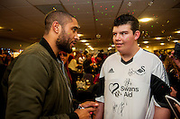 Tuesday  15 December 2015<br /> Pictured: Ashley Williams<br /> Re: Kids SCFC Christmas Party at the Liberty Stadium, Swansea