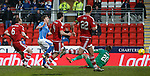 St Johnstone v Aberdeen…22.04.16  McDiarmid Park, Perth<br />Liam Craig scores the third goal<br />Picture by Graeme Hart.<br />Copyright Perthshire Picture Agency<br />Tel: 01738 623350  Mobile: 07990 594431