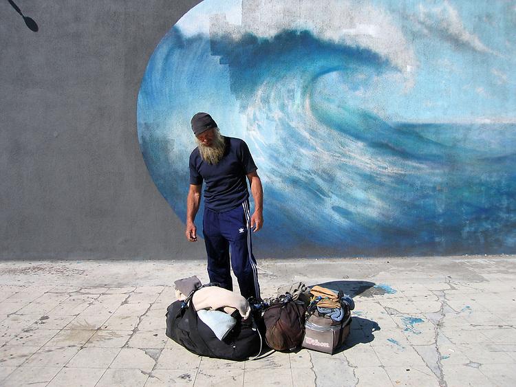 Homeless but Chasing the Wave, Redondo Beach, 2011