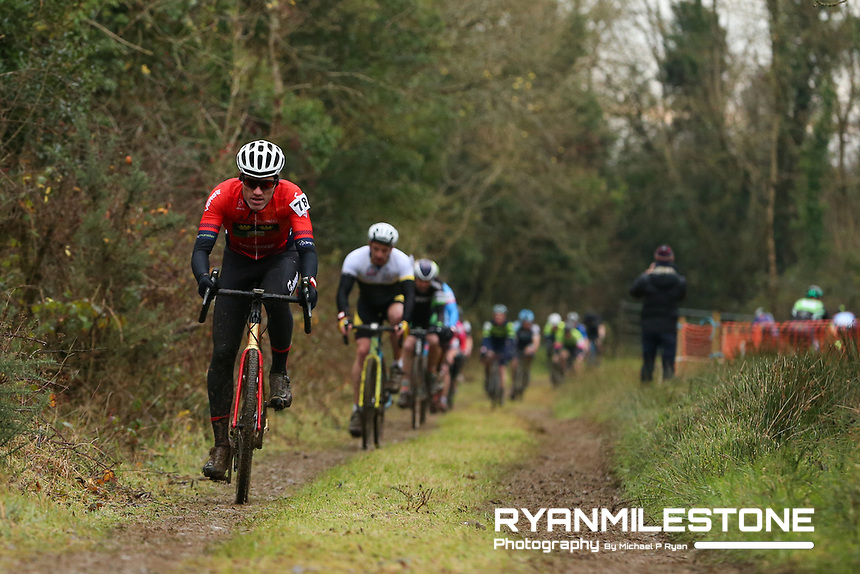 EVENT:<br /> Round 5 of the 2019 Munster CX League<br /> Drombane Cross<br /> Sunday 1st December 2019,<br /> Drombane, Co Tipperary<br /> <br /> CAPTION:<br /> Stephen McGrath of Fermoy Cycling Club in action during the B Race<br /> <br /> Photo By: Michael P Ryan