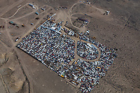 aerial photograph automobile junkyard southern Wyoming