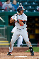 Wes Jones (10) of the Oklahoma State Cowboys at bat during a game against the Missouri State Bears at Hammons Field on March 6, 2012 in Springfield, Missouri. (David Welker / Four Seam Images)