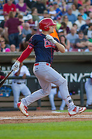 Peoria Chiefs first baseman R.J. Dennard (35) at bat during a Midwest League game against the Wisconsin Timber Rattlers on July 9, 2016 at Fox Cities Stadium in Appleton, Wisconsin. Peoria defeated Wisconsin 3-2. (Brad Krause/Four Seam Images)