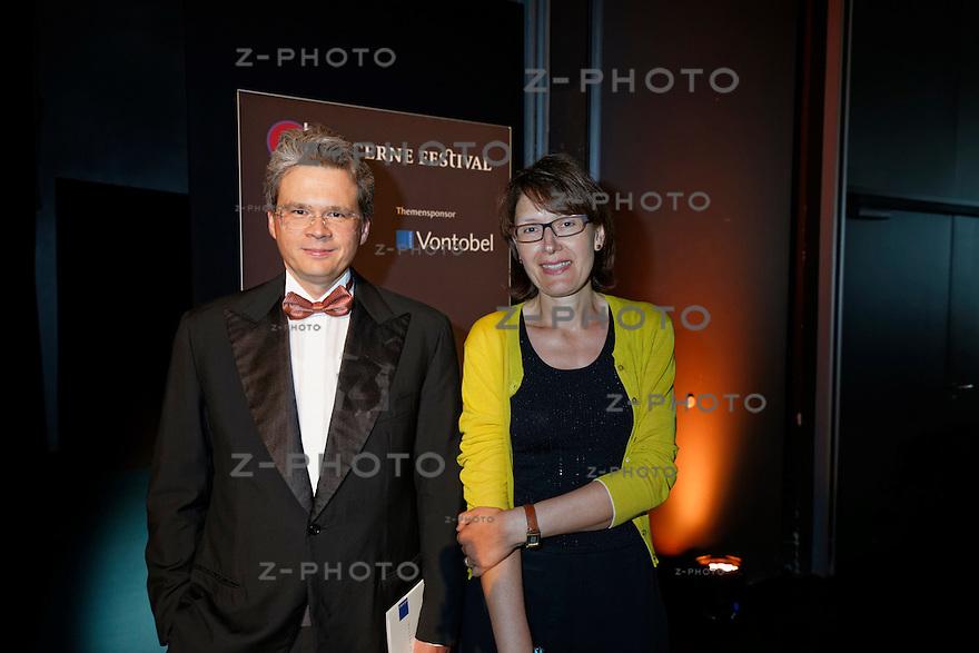 v.l.n.r. Zeno Staub; Vontobel Chef, Dr. Vera Kupper Staub am  Eroeffnungskonzert des Lucerne Festival im KKL Luzern am 14. August 2014<br /> <br /> Copyright ? Zvonimir Pisonic