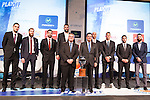 Thomas Satoransky, Sergio Rodriguez,Rafa Martinez, Ioannis Bourousis, Alberto Oliver, Nemanja Nedovic, Facun Campacho, Marco Popovic, Fracisco Roca and Borja Prado   during presentation of the Liga Endesa playoff. May 23,2016. (ALTERPHOTOS/Rodrigo Jimenez)
