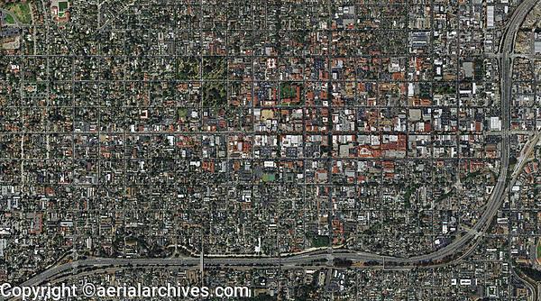 aerial photo map of Santa Barbara, California