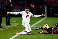 24th December 2020; Paris, France; French League 1 football, Paris St Germain versus Strasbourg;   Kenny LALA  of Strasbourg