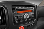 Stereo audio system close up detail view of a 2009 Nissan Cube SL