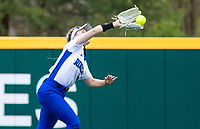 Jenna Williams (3) of Rogers makes catch against Bentonville at Rogers High School, Rogers, Arkansas, on Tuesday, April 6, 2021 / Special to NWA Democrat Gazette
