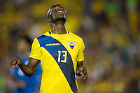 action photo during the match Brasil vs Ecuador, at Rose Bowl Stadium Copa America Centenario 2016. ---Foto  de accion durante el partido Brasil vs Ecuador, En el Estadio Rose Bowl, Partido Correspondiante al Grupo -B-  de la Copa America Centenario USA 2016, en la foto: Enner Valencia<br /> --- 04/06/2016/MEXSPORT/ Osvaldo Aguilar