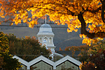 The sun sets behind the Capitol dome in Carson City, Nev., on Friday, Oct. 11, 2019. <br /> Photo by Cathleen Allison/Nevada Momentum