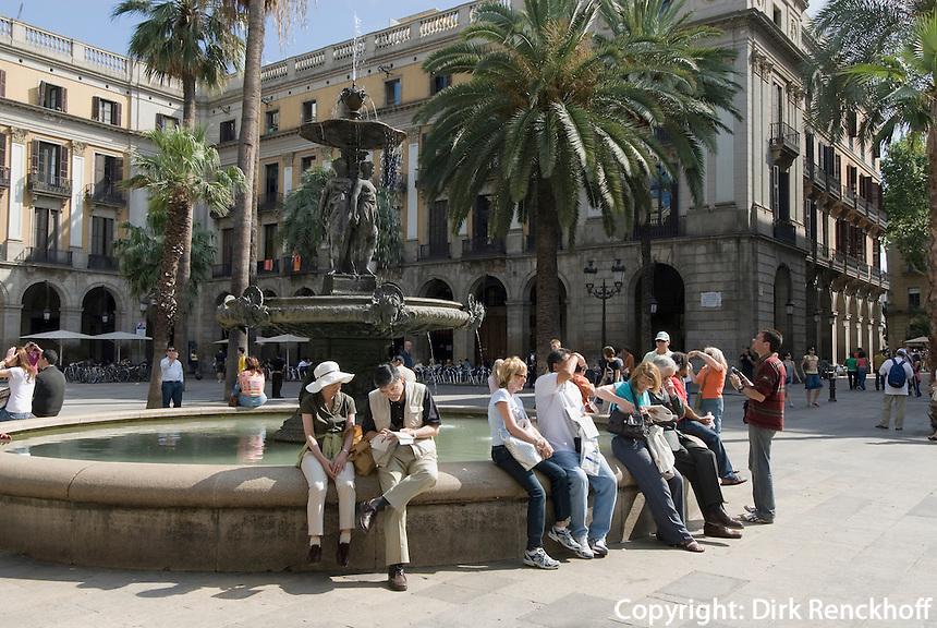 Spanien, Barcelona, auf der Placa Reial