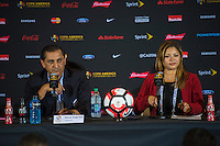 Orlando, Florida - Saturday, June 04, 2016: Paraguayan manager Ramon Diaz and CMO Jacky Ramos during a Group A Copa America Centenario match between Costa Rica and Paraguay at Camping World Stadium.