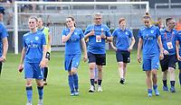 20180526 - Eupen , BELGIUM : Genk's players look dejected after the final of Belgian cup 2018 , a soccer women game between KRC Genk Ladies and Standard Femina de Liege  , in the  Kehrweg stadion in Eupen , saturday 26 th May 2018 . PHOTO SPORTPIX.BE | DAVID CATRY