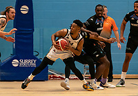 Justin Gordon of Newcastle Eagles during the BBL Championship match between Surrey Scorchers and Newcastle Eagles at Surrey Sports Park, Guildford, England on 20 March 2021. Photo by Liam McAvoy.