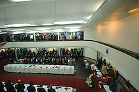De Nationale Assemblée (DNA) / The National Assemble of Suriname during presidential elections....Desi Bouterse (Desiré Delano Bouterse) chosen as new president of Suriname by De Nationale Assemblée (DNA) / The National Assemble of Suriname. He took 36 votes of 51 as leader of the Mega Combination. ....Robert_Ameerali the head of KKF (Kamer van Koophandel en Fabrieken) / Chamber of Commerce and Industry also selected as Vice President.....Desi Bouterse (Desiré Delano Bouterse) will sworn at 3 August 2010