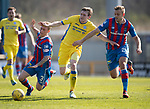 Inverness Caley v St Johnstone…08.04.17     SPFL    Tulloch Stadium<br />Blair Alston battles with Carl Tremarco and Louis Laing<br />Picture by Graeme Hart.<br />Copyright Perthshire Picture Agency<br />Tel: 01738 623350  Mobile: 07990 594431