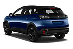 Car pictures of rear three quarter view of 2021 Peugeot 3008 GT-Pack 5 Door SUV Angular Rear