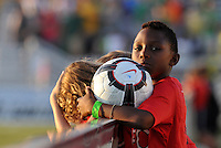 Ball Boy...AC St Louis and Vancouver Whitecaps played to a 0-0 tie at Anheuser-Busch Soccer Park, Fenton, Missouri.