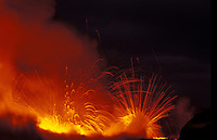 Sparks fly from Kilauea Volcano, Hawaii Volcanoes National park