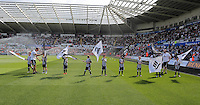 Guard of Honours during the Swansea City FC v Manchester City Premier League game at the Liberty Stadium, Swansea, Wales, UK, Sunday 15 May 2016