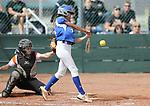 Basic Wolves' Alyssa Ferguson hits against the Douglas Tigers during the NIAA 4A softball tournament, in Reno, Nev., on Thursday, May 17, 2018. Douglas won 8-5. Cathleen Allison/Las Vegas Review-Journal