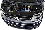 Car Stock 2014 Volkswagen CALIFORNIA COMFORTLINE EDITION BLUEMOTION 4 Door Minivan Engine high angle detail view