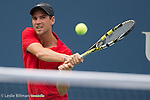 Adrian Mannarino (FRA) loses the first set to Andy Murray (GBR)  7-5 at the US Open in Flushing, NY on September 3, 2015.