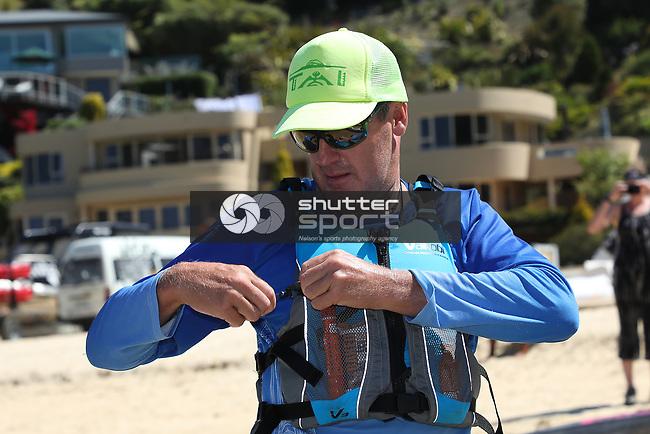 NELSON, NEW ZEALAND -FEBRURARY 13: Kaiteriteri to Mapua Surf Ski Race  Saturday 20 February 2021,Nelson New Zealand. (Photo by Evan Barnes Shuttersport Limited)