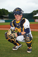 Montgomery Biscuits catcher Justin O'Conner (5) poses for a photo before a game against the Tennessee Smokies on May 25, 2015 at Riverwalk Stadium in Montgomery, Alabama.  Tennessee defeated Montgomery 6-3 as the game was called after eight innings due to rain.  (Mike Janes/Four Seam Images)