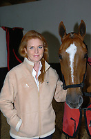 WELLINGTON, FL-FEBRUARY 05; (EXCLUSIVE COVERAGE) Sarah Ferguson Duchess of York enjoys a day with Oscar Bermudz at the Palm Beach Polo and Country Club in Wellington Florida. February 05, 2005. Miami Beach, Florida <br /> <br /> People:  Sarah Ferguson Duchess of York
