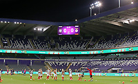 Illustrative photo of the warm up before a female soccer game between RSC Anderlecht Dames and Portugese Benfica Ladies  in the second qualifying round for the Uefa Womens Champions League of the 2020 - 2021 season , Wednesday 18 th of November 2020  in ANDERLECHT , Belgium . PHOTO SPORTPIX.BE | SPP | SEVIL OKTEM