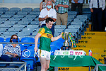 Kerry captain Paul Murphy, Kerry, with the Munster cup after the Munster GAA Football Senior Championship Final match between Kerry and Cork at Fitzgerald Stadium in Killarney on Sunday.