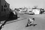 """Quadrupedal adult man hand walking Mazatlan Mexico 1973. Also known as Unertan or Uner Tan syndrome. Dr Nick Humphrey the leading authority on Quadrupedal humans says these photographs are the """"...earliest record I know of."""""""