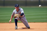 Detroit Tigers Will Maddox (29) during practice before a minor league Spring Training game against the New York Yankees on March 22, 2017 at the Yankees Complex in Tampa, Florida.  (Mike Janes/Four Seam Images)