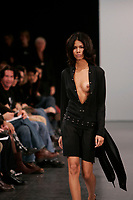October 24 2005 , Montreal (Qc) Canada<br />  the latest D.U.B.U.C. Philippe Dubuc collection during Montreal's fashion Week (Semaine de la Mode de Montr»al).<br /> One of Canada's top men's and women's wera designer, Dubuc has been selected for the MEN IN SKIRTS exhibit at Vitoria & Albert Museum in London, England.<br /> Photo : (c) 2005 Pierre Roussel