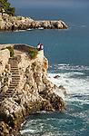 France, Provence-Alpes-Côte d'Azur, Nice: view pont at Jardin Félix Rainaux | Frankreich, Provence-Alpes-Côte d'Azur, Nizza: Aussichtspunkt im Jardin Félix Rainaux