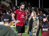 Sam Whitelock after the 2021 Super Rugby Aotearoa final between the Crusaders and Chiefs at Orangetheory Stadium in Christchurch, New Zealand on Saturday, 8 May 2021. Photo: Joe Johnson / lintottphoto.co.nz