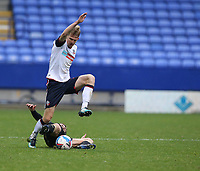 Bolton Wanderers' Harry Brockbank avoids the challenge from Oldham Athletic's Conor McAleny<br /> <br /> Photographer Stephen White/CameraSport<br /> <br /> The EFL Sky Bet League Two - Bolton Wanderers v Oldham Athletic - Saturday 17th October 2020 - University of Bolton Stadium - Bolton<br /> <br /> World Copyright © 2020 CameraSport. All rights reserved. 43 Linden Ave. Countesthorpe. Leicester. England. LE8 5PG - Tel: +44 (0) 116 277 4147 - admin@camerasport.com - www.camerasport.com