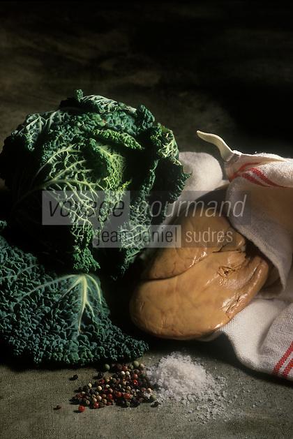 Cuisine/Gastronomie Generale: Terrine de Foie gras au chou vert- Ingrédients