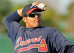 13 March 2009: Barbaro Canizares of the Atlanta Braves at Spring Training camp at Disney's Wide World of Sports in Lake Buena Vista, Fla. Photo by:  Tom Priddy/Four Seam Images