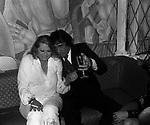 ANITA EKBERG CON WALTER CHIARI<br /> FESTA CRISTIANO MALGIOGLIO - OPEN GATE  ROMA 1981