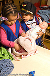 Day Care Center pretend play boy and girl in dressup clothes playing together