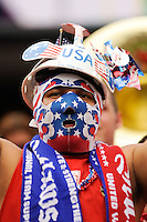 United States fan during an international friendly between the men's national teams of the United States (USA) and Turkey (TUR) at Lincoln Financial Field in Philadelphia, PA, on May 29, 2010.