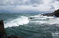 Massive waves on Lake Superior. Marquette, MI