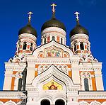 Estonia, capital Tallinn: Alexander Nevsky Cathedral at Toompea of Old Town, UNESCO World Cultural Heritage | Estland, Hauptstadt Tallinn: Alexander-Newski-Kathedrale auf dem Domberg in der Altstadt, UNESCO Weltkulturerbe