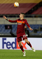 Football Soccer: Europa League -Round of 16 1nd leg AS Roma vs FC Shakhtar Donetsk, Olympic Stadium. Rome, Italy, March 11, 2021.<br /> Roma's Gianluca Mancini in action during the Europa League football soccer match between Roma and  Shakhtar Donetsk at Olympic Stadium in Rome, on March 11, 2021.<br /> UPDATE IMAGES PRESS/Isabella Bonotto