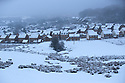 22/01/19<br /> <br /> Snow covers houses in Buxton the Derbyshire Peak District.<br /> <br /> All Rights Reserved, F Stop Press Ltd +44 (0)7765 242650  www.fstoppress.com rod@fstoppress.com